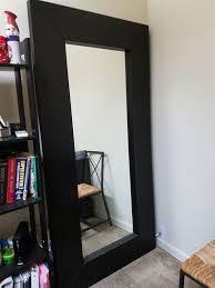 ikea mongstad mirror black brown wood