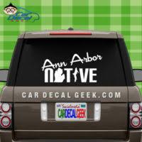 Ann Arbor Car Window Vinyl Decals Stickers Michigan Decals