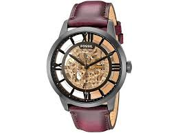 men s fossil townsman brown automatic