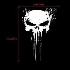 Punisher Skull Blood Vinyl Car Decals Stickers Motorcycles Decoration Walmart Com Walmart Com