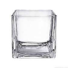 6 inch cube glass vase centerpiece home