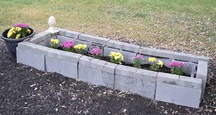 cinder block raised garden bed