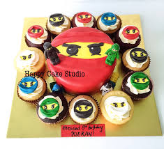Ninjago Cake and Cupcakes for Kieran's 6th Birthday!