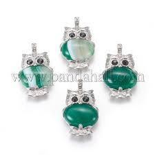natural green onyx agate pendants