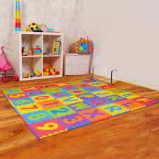 Kids Alphabet And Numbers Play Mats With Edgings 36 Tiles Assemblemat