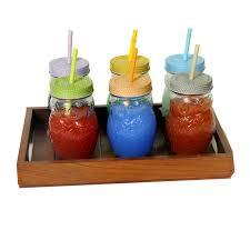 clear owl mason jars w 6 color lid