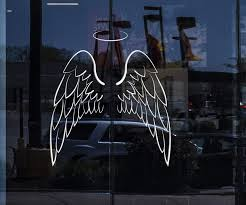 Glass And Window Vinyl Wall Decal Angel Wings Bedroom Decoration Stick Wallstickers4you