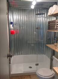 shower ideas rustic corrugated metal