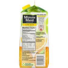premium low acid 100 orange juice