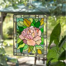 stained glass wall hanging tag