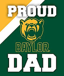 Amazon Com R And R Imports Inc Baylor Bears Ncaa Collegiate 5x6 Inch Rectangle Stripe Proud Dad Decal Sticker Automotive
