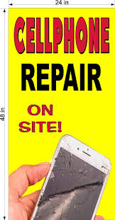 Amazon Com Cellphone Cell Phone Repair You Choose Size Perforated Window Vinyl Decal 2 X 4 Vertical Office Products