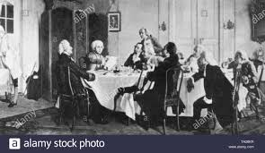 The German philosopher Immanuel Kant in his apartment in the circle of his  friends Stock Photo - Alamy