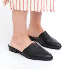 leather mules black mules womens mules
