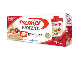 strawberries cream protein shake