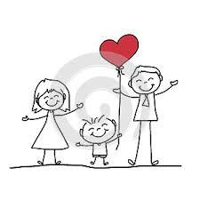 Obrázok(38317529): Ručné kreslenie komiksu šťastná rodina. | Autor ...
