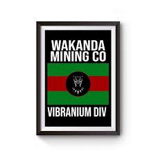 Wakanda Mining Co Vibranium Div Black Panther Poster In 2020 Black Panther Poster Tube Poster On