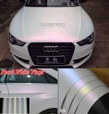 Sell Full Roll Matte Pearl White Chameleon Vinyl Car Wrap Sticker Decal Air Free Motorcycle In Car Paint Jobs Car Wrap White Vinyl