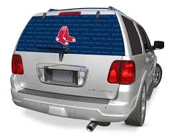 Boston Red Sox Decals Boston Red Sox Window Graphics Boston Red Sox Mlb Logo Rearz Back Windshield Covering By Glass Tatz