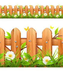 Image Result For Cartoon Bushes And Trees And Fence Wooden Fence Boarders And Frames Frame Border Design