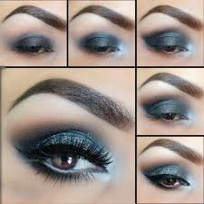 black and silver smokey eye makeup