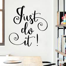 Just Do It Quote Words Vinyl Wall Sticker Decal Bedroom Removable Vinyl Decor Ebay