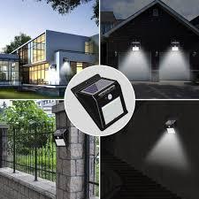 Outdoor Solar Motion Sensor Wall Light Waterproof Security Lights Pir Solar Wall Light With Solar Panel For Patio Yard Deck Garage Driveway Porch Fence Garden Lazada Ph