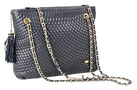 bally quilted chain link with tassel