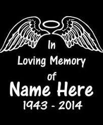 In Loving Memory Wings And Halo Decal Sticker Midwest Sticker Shop