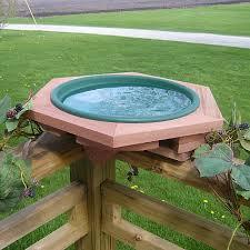Mini Deck Mount Garden Bird Bath With 2 Pans Deck Mounted Birdbaths Deck Or Fence Mount Bird Baths At Songbird Garden