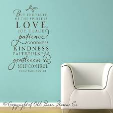 The Fruit Of The Spirit Vinyl Wall Decal Scripture Lettering Art Design Word Sticker Brown Christian Wall Decals Scripture Wall Decal Vinyl Wall Decals
