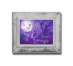 Good Night Wall Art Poster Purple Wall Decor Bedroom Kids Etsy