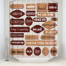 funny quotes shower curtain inspirational motivational happiness