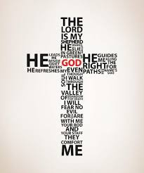 Vinyl Wall Decal Sticker Psalm 23 The Lord Is My Shepherd Cross 5132 Stickerbrand