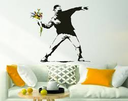 Banksy Wall Decal Etsy