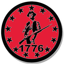 Amazon Com Red Round 1776 Minuteman 13 Stars Sticker Minutemen Border Patriot Arts Crafts Sewing