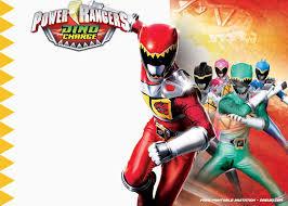 Free Printable Power Rangers Dino Charge Invitation Template