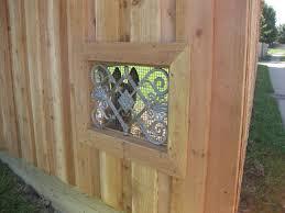 Pin By Stephanie Laughlin On My Details Dog Window In Fence Dog Window Backyard Fence Decor