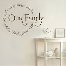 Our Family Wall Decal Art Quotes Vinyl Window Stickers Home Decor For Living Room Bedroom Lettering Family Circle Mural M698 Wall Stickers Aliexpress