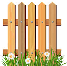 Cartoon Fence Clipart Wooden Garden Fence Fence Paint