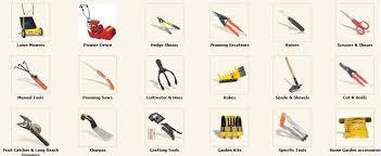 gardening gardening tools names