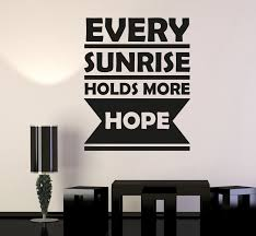 Wall Decal Motivational Sign Positive Words Hope Vinyl Sticker Ed1951 Wallstickers4you