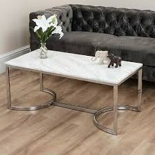 marble effect coffee table gold silver