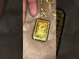 24k chain dragon pendant you