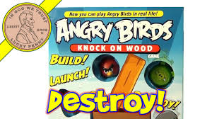 Angry Birds Knock On Wood Card Game by Mattel - Build Launch ...