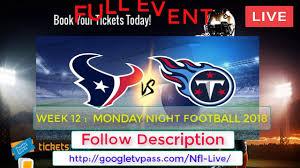 Tennessee Titans vs Houston Texans Live ...