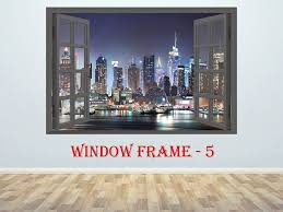 New York City Sticker 3d Window Decal New York Sticker New York Print New York Vinyl Skyscrapers Prin Wall Stickers Home Decor Window Decals Wall Stickers Home