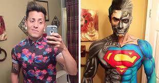 makeup artist turns himself into