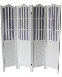 Special Prices On The Gray Barn Nether Wall White 4 Panel Room Divider Foldable White Wood