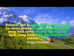 kata mutiara yang cocok buat kamu dihari minggu happy weekend